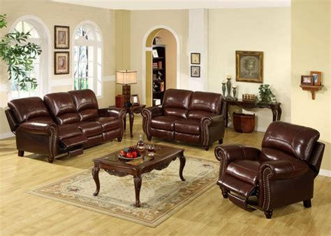 Set Of Living Room Chairs Leather Living Room Furniture Sets Peenmedia