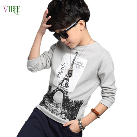 new year clothes for boy new 2016 autumn boys t shirt 12 14 years t shirt