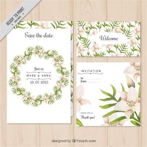 Wedding Invitation Ai by Ai Floral Wreath Wedding Invitation Vector Free