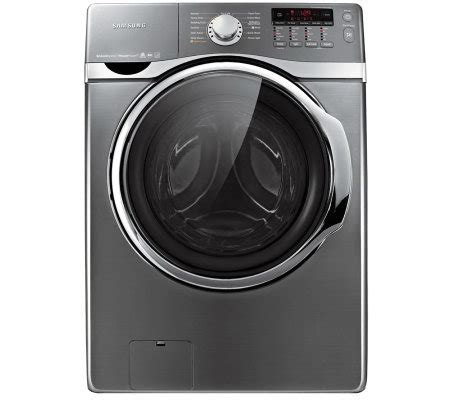samsung 4 0cuft vrt steam and power foam front load washer platinum qvc
