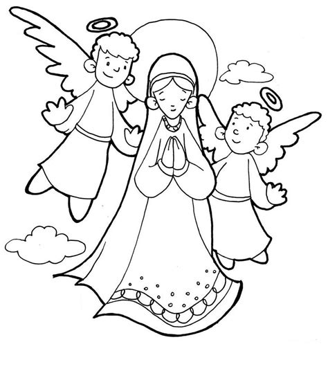 coloring page catholic the assumption of mary catholic coloring page pinteres