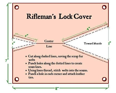 pattern lock making a quot cow s knee quot is a leather lock cover used to keep the