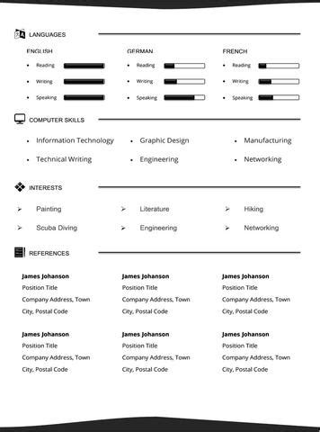 Sle Ece Resume by Sleek Resume Template And Cover Letter 24 Gemresume Gemresume