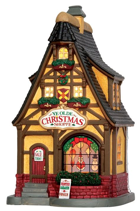 lemax lights lemax ye olde shoppe sku 55902 released in 2015 as a lighted building for the