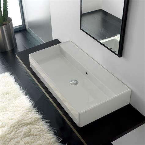 doppel waschbecken badezimmerideen scarabeo teorema 120 aufsatzwaschtisch 8031r120 megabad