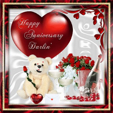 Wedding Anniversary With Your Name Picture Song Message by Happy Anniversary Darlin Free For Ecards Greeting