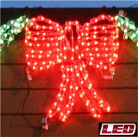 christmas led swag lights with bows 3d lighted led 3d swag holidynamics lighting solutions