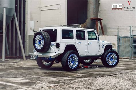 modified white jeep wrangler jeep wrangler modified by mc customs is a beast you