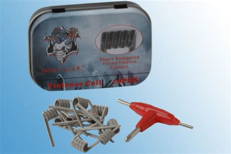 Killer Staple Staggered Fused Clapton 0 30 Ohm 1 staple staggered fused clapton coil damon killer smart24 net