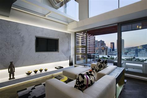 Small Duplex Apartment With Modern Interior Design New York 2 Bedroom Duplex Apartment Living Room Ny