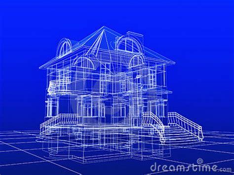 3d blueprint 3d house blueprint stock images image 6732614