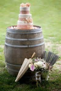 Half Wine Barrel Table by Wine Barrel Wedding Decor Weddings By Lilly