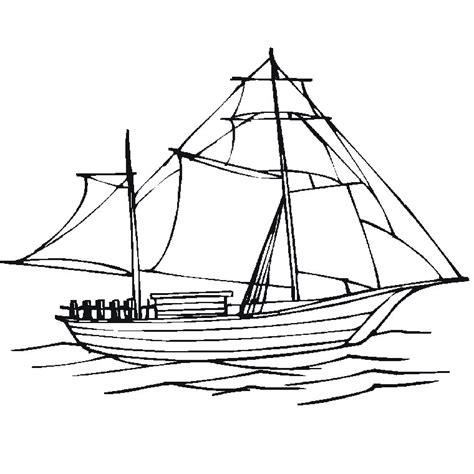 coloriage bateau voile a imprimer gratuit - Dessin D Un Bateau à Voile
