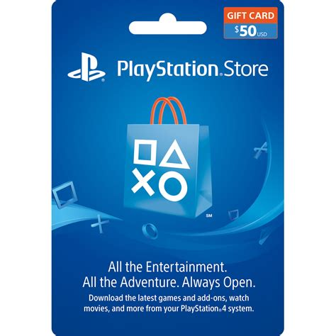 Psn Gift Cards - sony playstation store 50 gift card 3002072 b h photo video