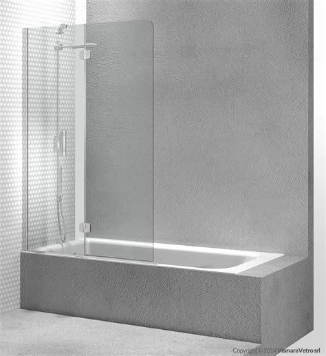 vetri per vasca da bagno parete per vasca in vetro temperato sintesi pv by