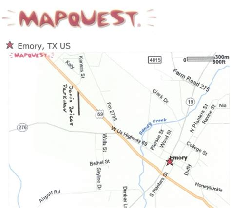 emory texas map hours