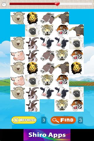 wild animal face matching game  kids apk  android app  appraw