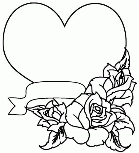 coloring pages for adults roses and hearts free adult printable coloring pages roses heart coloring