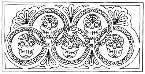Girl Candy Skull Coloring Pages Girly Sugar Skull Coloring Pages