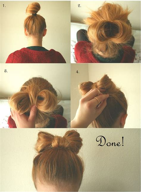 hairstyle using rubberbainds and folding hair through to create braid 10 bow hairstyles with tutorials and imges