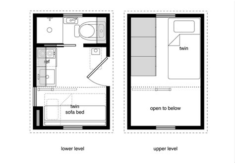 Micro Home Floor Plans by Michael Janzen S Quot Tiny House Floor Plans Quot Small Homes