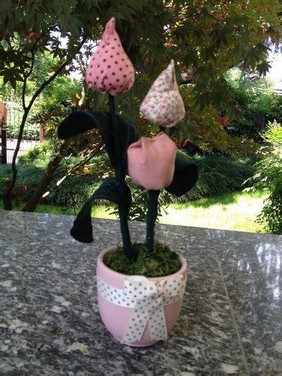 vaso per tulipani vaso fiori tulipani in stoffa per la casa e per te