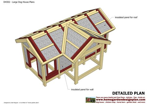 dog house drawings home garden plans dh302 insulated dog house plans construction dog house design