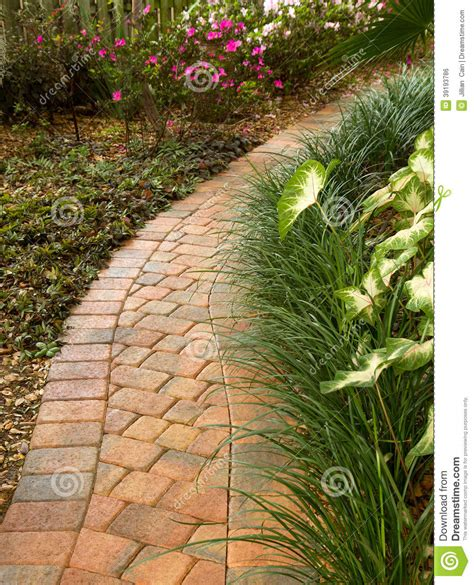 enticing curved garden path stock photo image 39193786