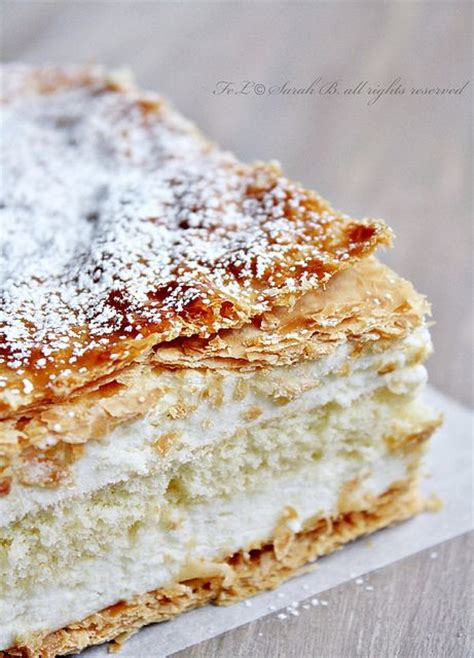 Layer Puff diplomatico puff pastry layers filled with creme