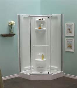 Acrylic Shower Units Mirolin Sorrento 42 Inch Acrylic Frameless Neo Angle