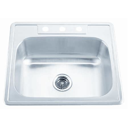 Proflo Pfsr2522654 Stainless Steel 25 Quot Single Basin Proflo Kitchen Sinks