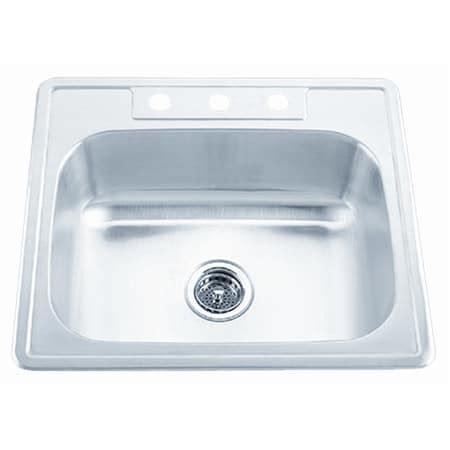 Proflo Kitchen Sinks Proflo Pfsr2522654 Stainless Steel 25 Quot Single Basin Stainless Steel Kitchen Sink With 4 Holes