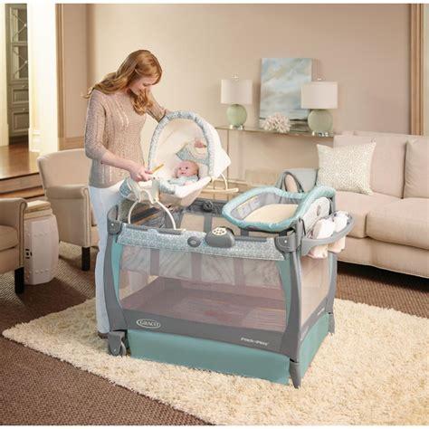 Pack N Play With Newborn Sleeper by Baby Graco Pack 039 N Play Playard Cuddle Cove Rocking