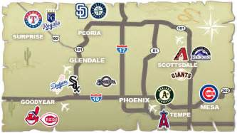 map of ballparks in arizona mlb announces 2017 schedule mega sports news