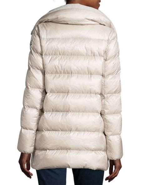 Moncler Quilted Puffer Jacket by Moncler Torcyn Quilted Wool Lined Puffer Coat In White Lyst