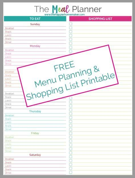 free printable kitchen planner 17 best images about menu planning sheets tips grocery