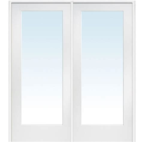 Home Depot Doors With Glass Mmi Door 60 In X 80 In Left Active Primed Composite Clear Glass Lite Prehung