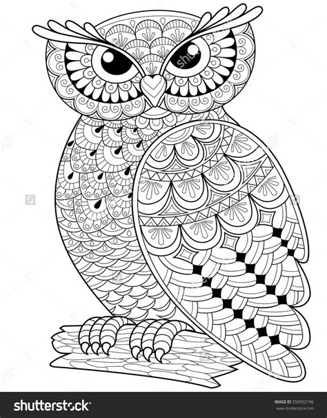 wonderful owls coloring book for adults and stress reduction combining nature poetry and for relaxation meditation and creativity volume 2 books decorative owl antistress coloring page black and