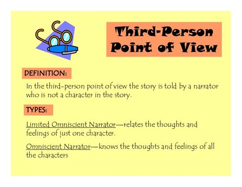 biography sle using third person ppt lc point of view