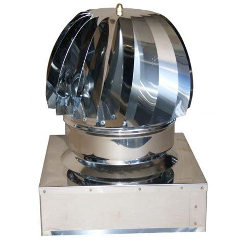 camino eolico 014q comignolo eolico rotante in acciaio inox a base