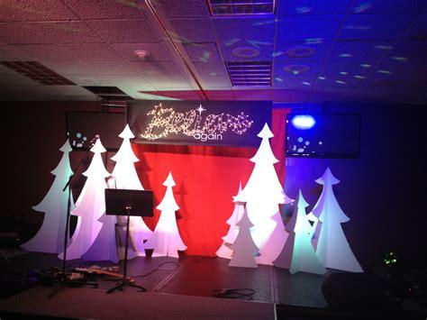best xmas stage decoration believe again series stage set stuff we build