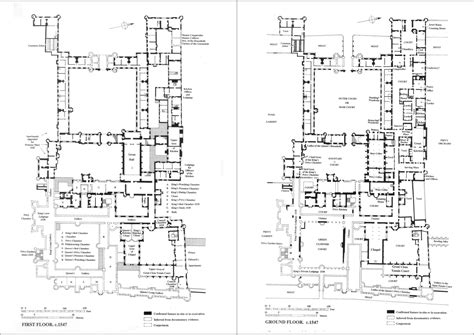 hton court palace floor plan hton court palace floorplans under king henry viii