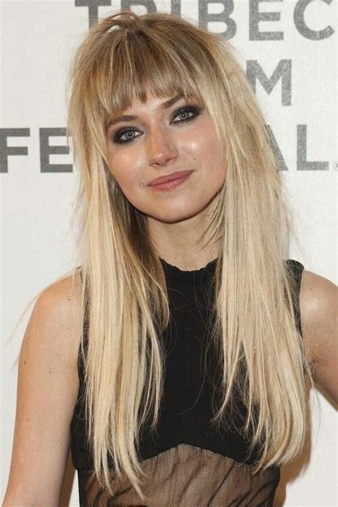 hairstyles with curved bangs 25 beautiful long hairstyles with bangs