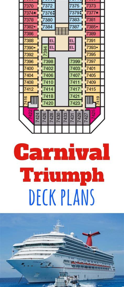 Carnival Triumph Floor Plan by Carnival Triumph Deck Plans