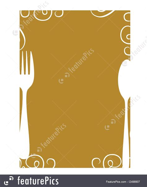 templates mustard colored menu background stock