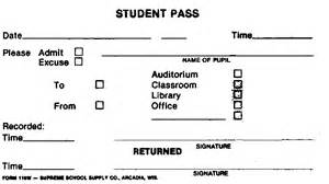 lunch pass template forms