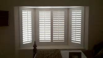 Bow Window Curtain Rod plantation shutters il ca superior view shutters