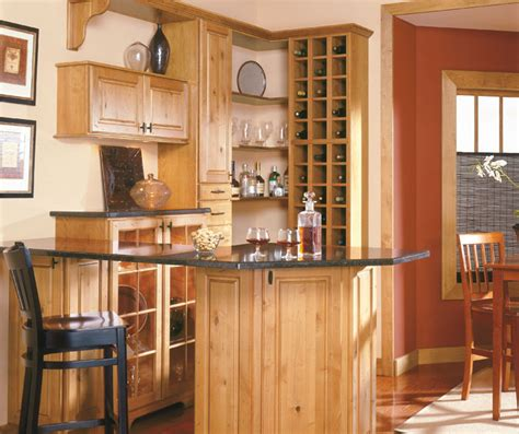 schrock kitchen cabinets rustic alder cabinets in a bar area schrock cabinetry