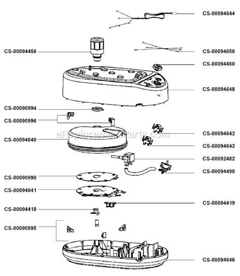 rowenta iron parts diagram rowenta dg580 parts list and diagram ereplacementparts