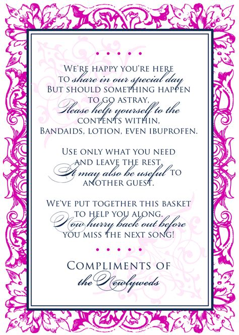 wedding bathroom basket sign template wedding bathroom basket sign template just b cause